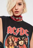 Missguided Red Diamante Bandana Scarf Choker Necklace