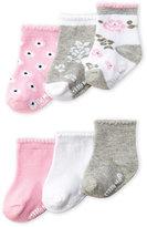 Little Me Newborn/Infant Girls) 6-Pack Socks
