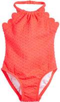 Kate Spade Scalloped Halter One-Piece Swimsuit, Size 12-24 Months