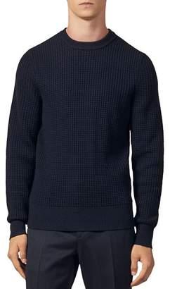 Sandro Waffle-Stitch Crewneck Sweater
