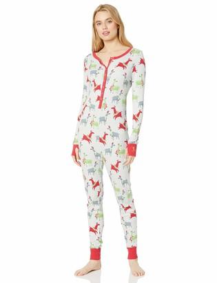 Munki Munki Women's Thermal Onesie Unionsuit Pajama