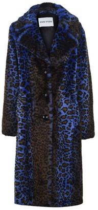 Stand Studio Fanny Acidic Leopard Faux Fur Coat