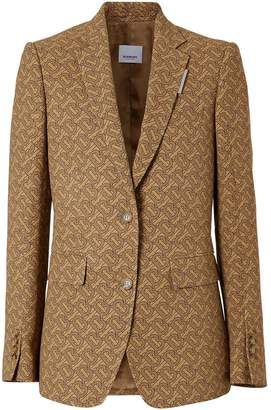 Burberry Monogram print silk tailored jacket