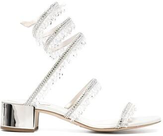 Rene Caovilla Crystal Drop Sandals