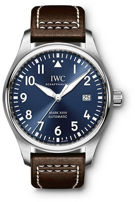 IWC Pilot Mark XVIII Le Petit Prince Stainless Steel & Leather Strap Watch