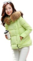 Yinhan YH Womens Winter Warm Fur Collar Cotton Loosen Cape Coat XXL