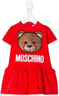 MOSCHINO BAMBINO Sequin Bear Dress