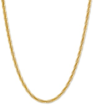 """Giani Bernini Crisscross Twist Link 18"""" Chain Necklace in 18k Gold-Plated Sterling Silver"""