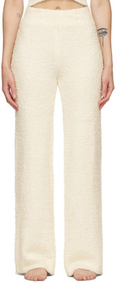 SKIMS Off-White Knit Cozy Lounge Pants