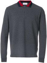 Moncler ribbed collar polo shirt - men - Cotton - M