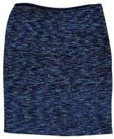 St. John Blue Tweed Pencil Skirt
