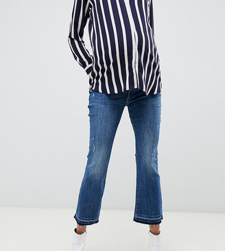 DL1961 lara maternity straight leg jean-Blue