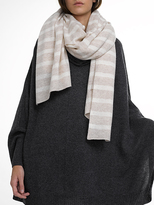 White + Warren Cashmere Variegated Stripe Travel Wrap