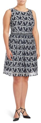 Julia Jordan Plus Printed Fit Flare Dress