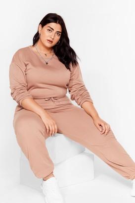 Nasty Gal Womens Keep It Casual Plus Lounge Jumpsuit - Grey - 16