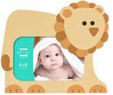 Prinz Little Safari 4-Inch x 6-Inch Lion Picture Frame in Tan
