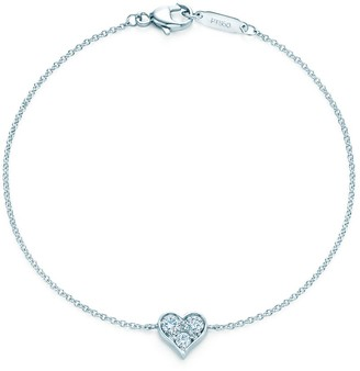 Tiffany & Co. HeartsTM bracelet in platinum with diamonds