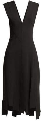 Altuzarra Tiziana Stretch-crepe Asymmetric Midi Dress - Womens - Black