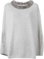N.Peal furry collar top - women - Rabbit Fur/Cashmere - One Size