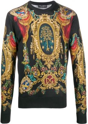 Dolce & Gabbana Heraldic print jumper