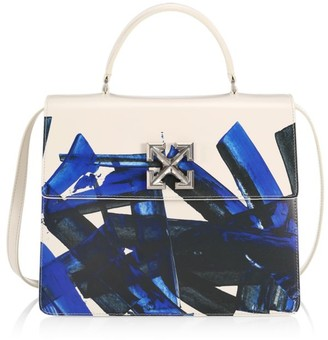 Off-White Jitney 4.3 Brushstroke Leather Top Handle Bag