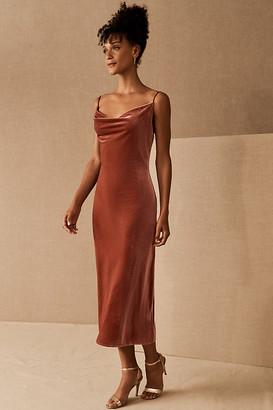 Jenny Yoo Bentley Velvet Dress By in Pink Size 0