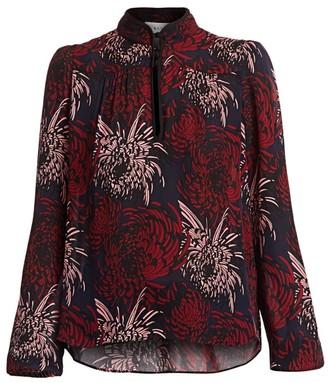 A.L.C. Beatrix Floral Silk Blouse