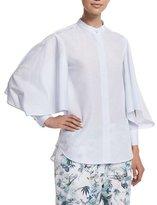 ADAM by Adam Lippes Full-Sleeve Button-Front Shirt, Light Blue