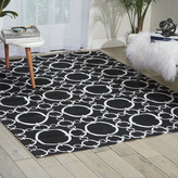 Waverly Art House Connected Black Area Rug by Nourison (5' x 7')