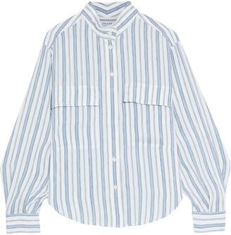 Frame Clean Safari Striped Linen-blend Shirt