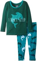 Kickee Pants Print Pajama Set - Lagoon Hammerhead - 12-18 Months