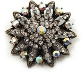 Avalaya Clear/ Iridescent Crystal Dimensional Floral Corsage Brooch (Antique Tone)