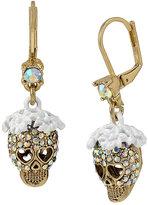 Betsey Johnson I Dream Of Betsey Skull Earrings