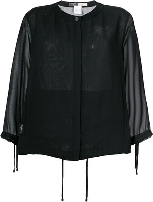 Chanel Pre Owned sheer cardigan