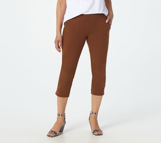 Women With Control Wicked by Petite Capri Pants w/ Pockets & Slits