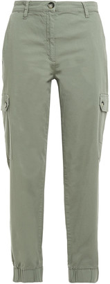 Baum und Pferdgarten Cropped Organic Cotton-blend Twill Tapered Pants