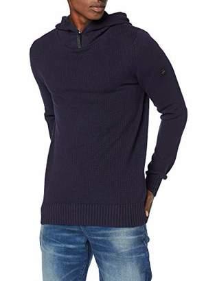 G Star Men's Omohundro Hooded Zip Knit Long Sleeve Jumper,X-Large