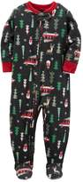 Carter's Baby Boy Holiday Patterned Microfleece One-Piece Pajamas