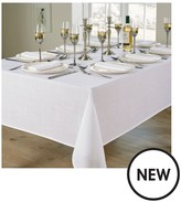 Essentials 8 Place Setting Tablecloth And Napkin Set - White