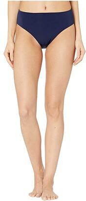 Robin Piccone Ava High-Waist Bottoms (Black) Women's Swimwear