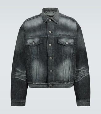 Balenciaga Logo large fit denim jacket