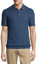 Michael Kors Silk-Cotton Piqué Polo Shirt