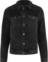 River Island Mens Black skinny stretch denim jacket