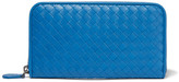 Bottega Veneta Intrecciato Leather Continental Wallet - Blue