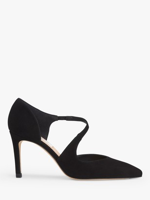 LK Bennett Victoria Asymmetric Cut Court Shoes, Black