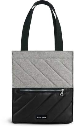 Sterthous Grey On Black Quilted Tote