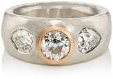 Malcolm Betts Women's White Diamond Wide Band