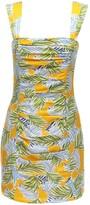 Bec & Bridge Palm Paradise Printed Satin Mini Dress