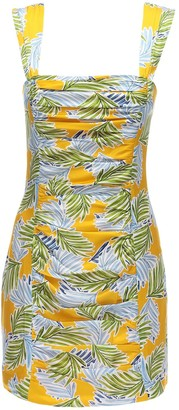 Bec & Bridge Palm Paradise Printed Satin Mini Dress