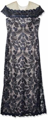 Tadashi Shoji Women's s/s Sequin lace Gown w/Illusion Neckline